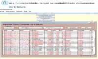 Importação de documentos E-fatura